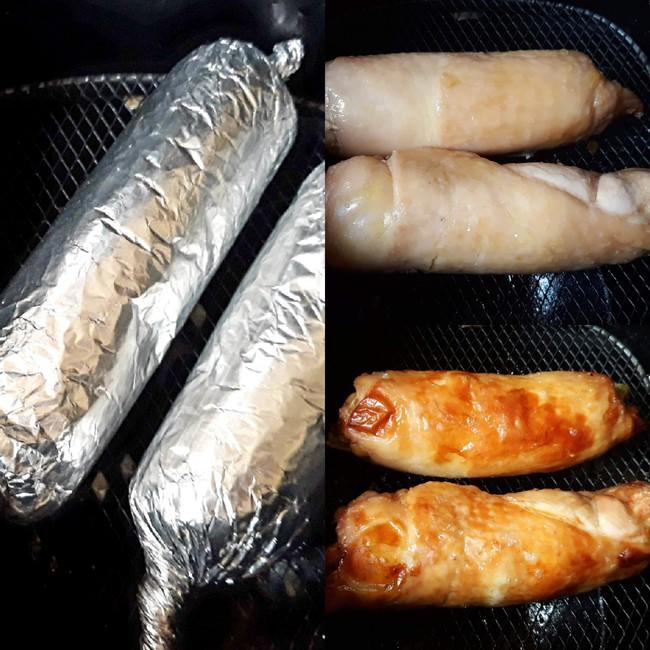 Bữa tối ngon đẹp như nhà hàng với món gà cuộn rau củ nướng thơm phức - Ảnh 3.