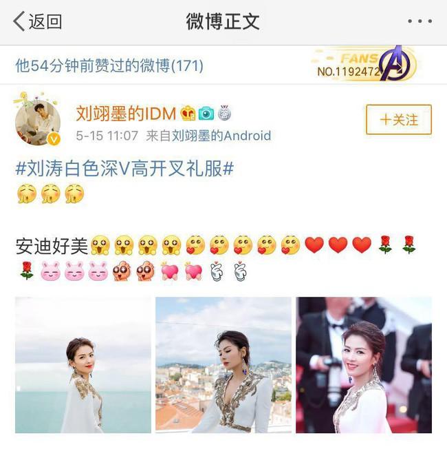 Cuồng vợ như chồng Lưu Đào: Like 171 bài liên quan đến việc vợ xuất hiện tại Cannes - Ảnh 5.