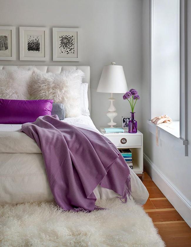 Trái tim lạc nhịp trước căn phòng ngủ mang sắc tím mộng mơ - Ảnh 13.