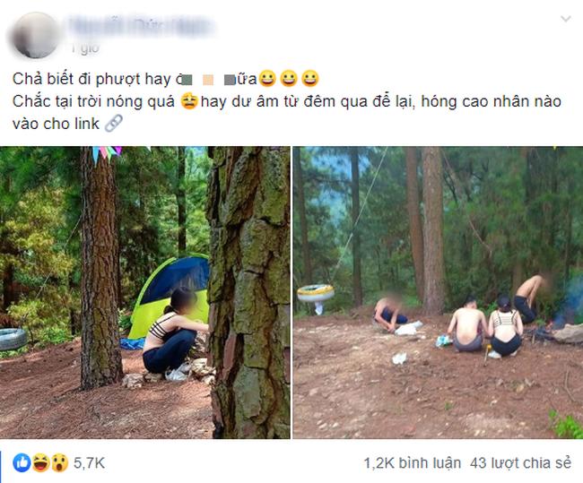 Cô gái ăn mặc hở hang khi đi phượt cùng nhóm bạn nam khiến dân mạng tranh luận gay gắt - Ảnh 1.