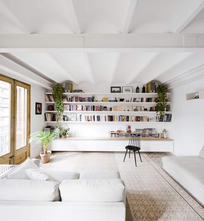Phòng khách với những món đồ nội thất màu trắng: Sự lựa chọn thông minh, không bao giờ lỗi mốt - Ảnh 1.