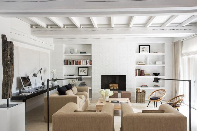 Phòng khách với những món đồ nội thất màu trắng: Sự lựa chọn thông minh, không bao giờ lỗi mốt - Ảnh 12.