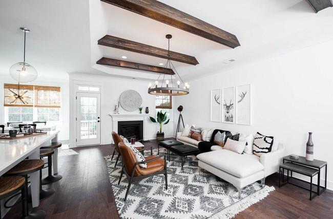 Phòng khách với những món đồ nội thất màu trắng: Sự lựa chọn thông minh, không bao giờ lỗi mốt - Ảnh 4.