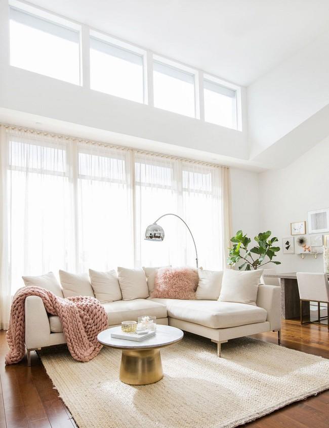 Phòng khách với những món đồ nội thất màu trắng: Sự lựa chọn thông minh, không bao giờ lỗi mốt - Ảnh 5.