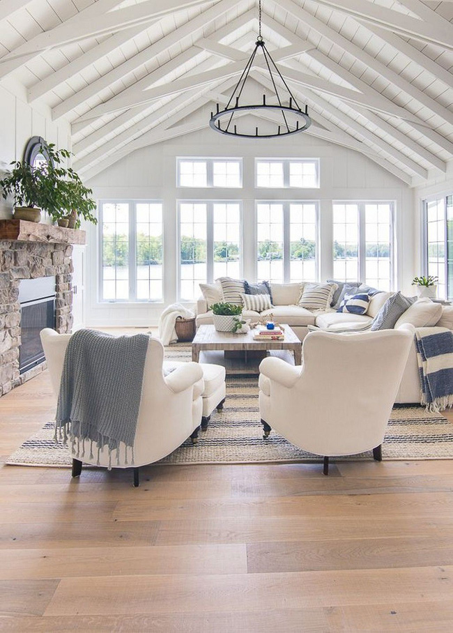 Phòng khách với những món đồ nội thất màu trắng: Sự lựa chọn thông minh, không bao giờ lỗi mốt - Ảnh 6.