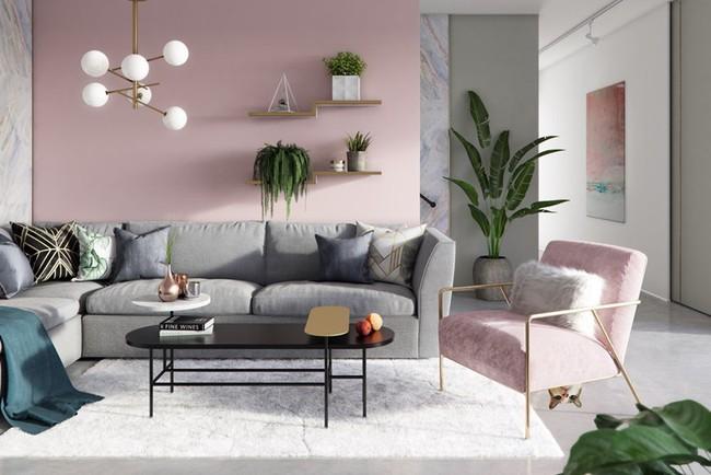 Những mẫu phòng khách màu hồng khiến bạn lúc nào cũng muốn về nhà - Ảnh 10.