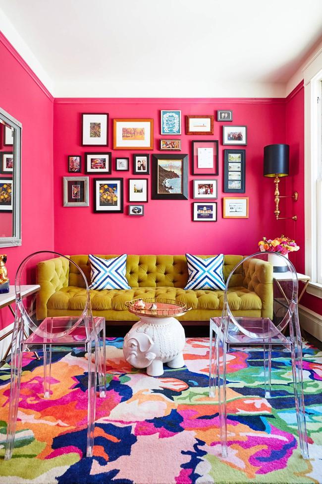 Những mẫu phòng khách màu hồng khiến bạn lúc nào cũng muốn về nhà - Ảnh 3.