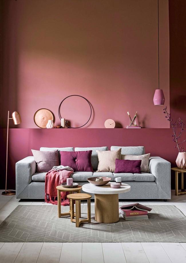 Những mẫu phòng khách màu hồng khiến bạn lúc nào cũng muốn về nhà - Ảnh 5.