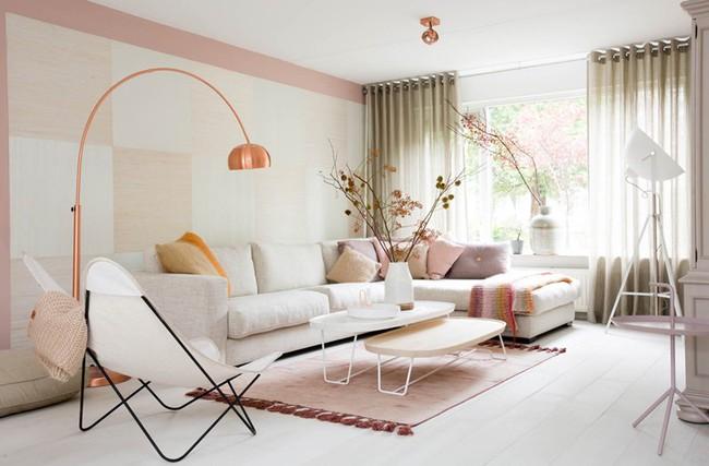 Những mẫu phòng khách màu hồng khiến bạn lúc nào cũng muốn về nhà - Ảnh 6.