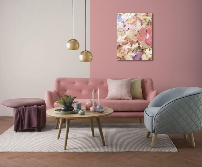 Những mẫu phòng khách màu hồng khiến bạn lúc nào cũng muốn về nhà - Ảnh 9.