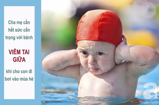 Đi bơi mùa hè, cha mẹ cẩn trọng tránh nguy cơ con bị viêm tai giữa - Ảnh 1.
