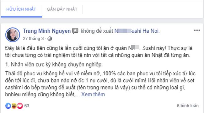 """Tiệm sushi nổi tiếng Hà Nội bị tố dùng nhiều chiêu """"bẫy"""" tiền thực khách: MC Minh Trang cũng từng là """"nạn nhân"""" - Ảnh 4."""