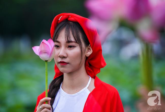 Một mùa sen nữa lại về, Hà Nội lại nhuộm hồng cánh hoa, tươi như thanh xuân của gái chưa chồng - Ảnh 1.