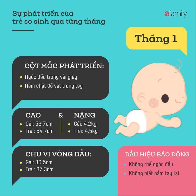 Tham khảo các cột mốc phát triển quan trọng của em bé sơ sinh trong một năm đầu tiên theo từng tháng - Ảnh 1.