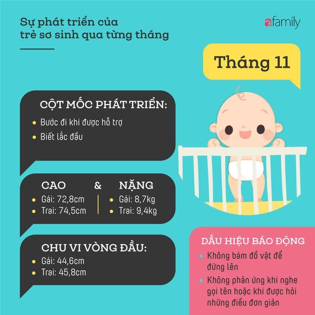 Tham khảo các cột mốc phát triển quan trọng của em bé sơ sinh trong một năm đầu tiên theo từng tháng - Ảnh 11.