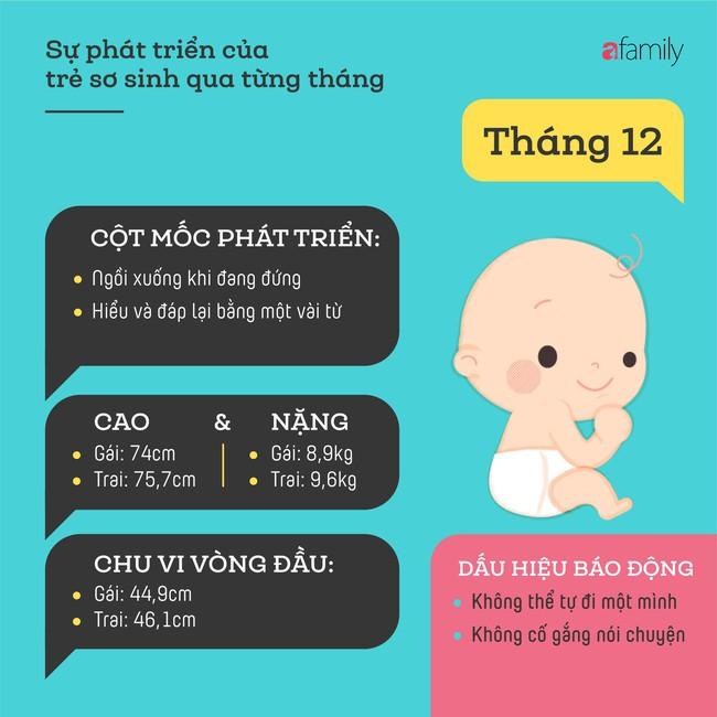 Tham khảo các cột mốc phát triển quan trọng của em bé sơ sinh trong một năm đầu tiên theo từng tháng - Ảnh 12.