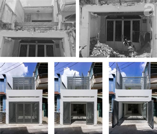 Ngôi nhà 40m² từ xuống cấp trầm trọng thành nơi nằm nghe nắng mưa lý tưởng của gia đình trẻ ở Sài Gòn - Ảnh 1.