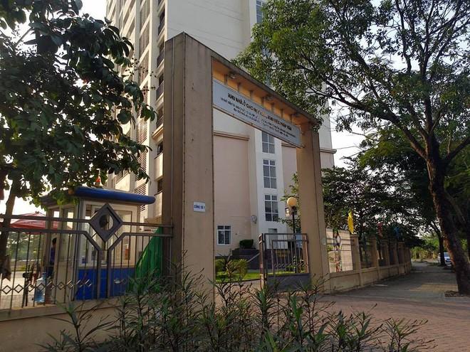 KTX Pháp Vân nơi sinh viên tố xuất hiện nước bẩn.