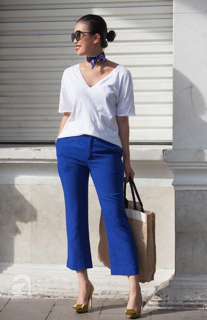 Street style cuối tuần: Quý cô hai miền - người lấp ló chân thon dài, người khoe vai trần cá tính - Ảnh 12.