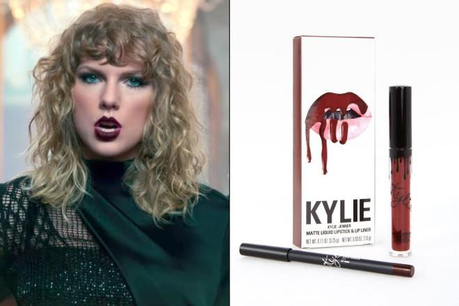 Ra mắt hẳn một MV đá xoáy vợ chồng nhà Kim thế mà Taylor Swift lại dùng son của cô em Kylie - Ảnh 5.