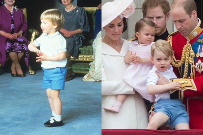 Hoàng tử và Công chúa nhà Kate thỉnh thoảng còn diện lại đồ của bố William hay chú Harry từng mặc 30 năm trước - Ảnh 3.