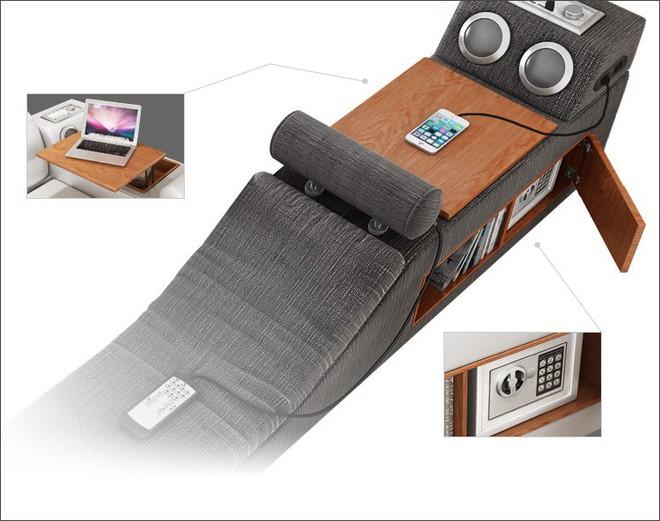 Có chiếc giường đa năng chất thế này thì chỉ muốn nằm lì cả ngày để tận hưởng - Ảnh 5.