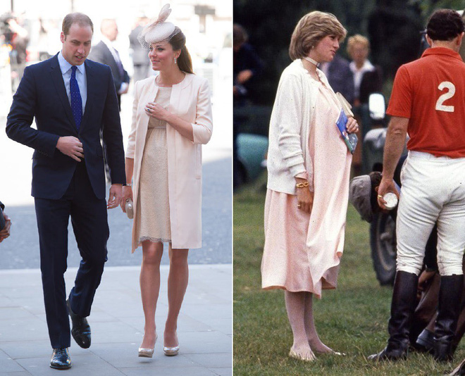 Cùng mang thai, nhưng công nương Kate và công nương Diana lại có cánh che bụng bầu hoàn toàn khác nhau - Ảnh 1.