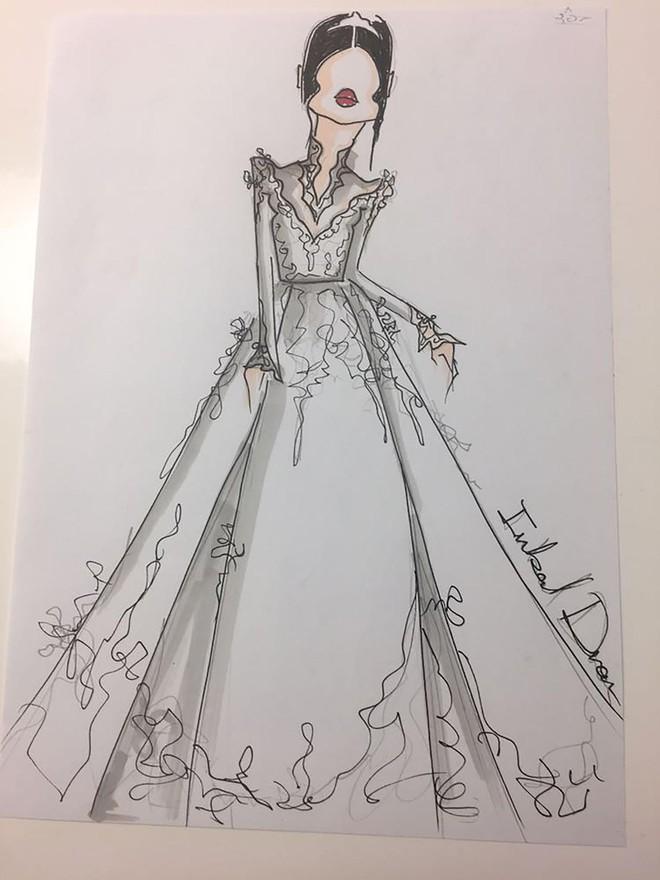 Hé lộ 3 bản phác thảo váy cưới của hôn thê Hoàng tử Harry sẽ mặc tại lễ cưới Hoàng gia - Ảnh 3.