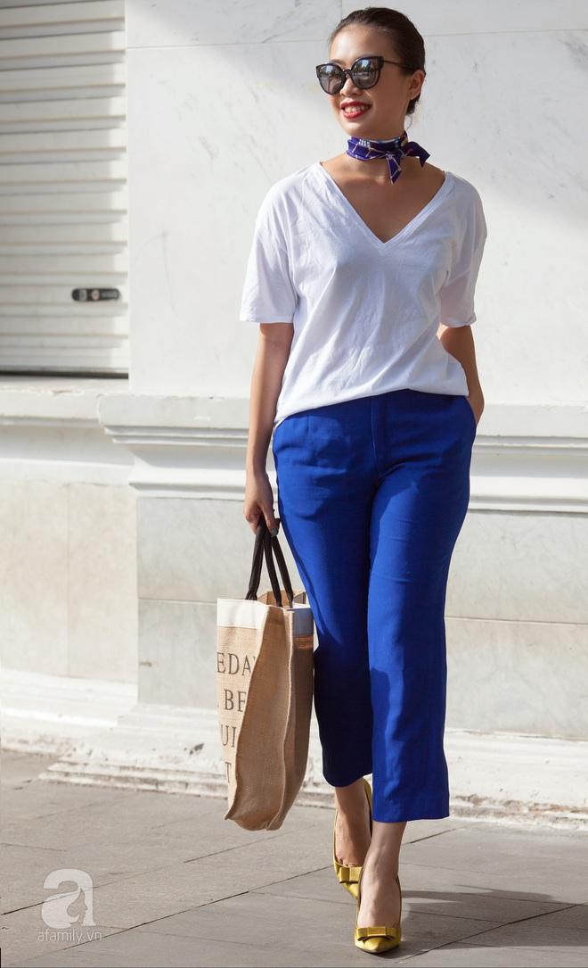 Street style cuối tuần: Quý cô hai miền - người lấp ló chân thon dài, người khoe vai trần cá tính - Ảnh 13.
