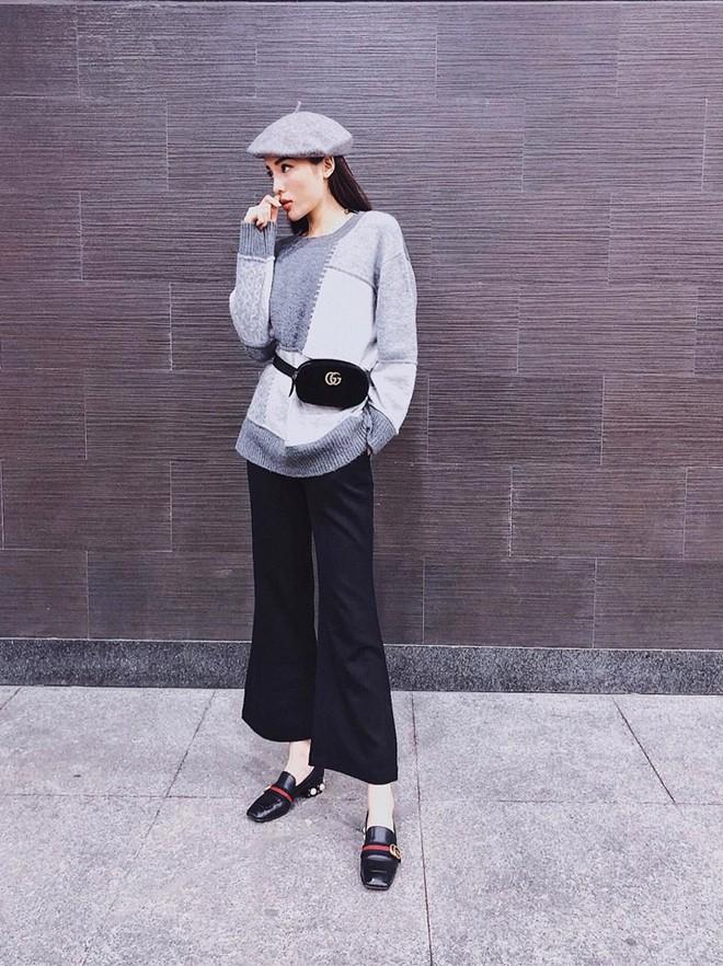 Đông này muốn diện áo len thật thời thượng, hãy học tập từ street style của các người đẹp Vbiz - Ảnh 4.