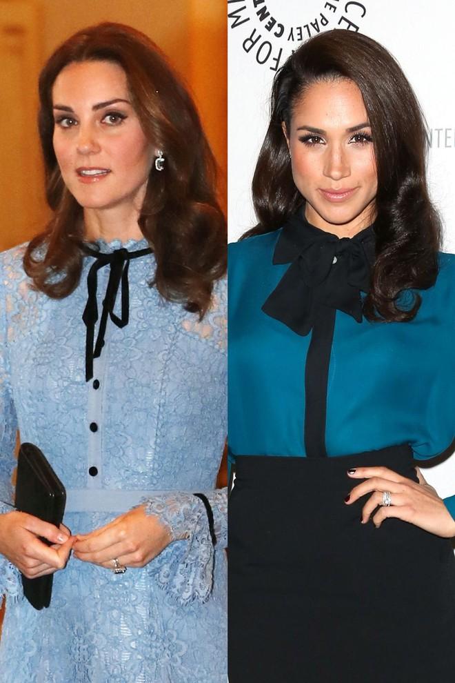 Có ai như chị em dâu nhà Hoàng gia Anh, Kate Middleton và Meghan Markle có tới 11 lần đụng váy - Ảnh 10.
