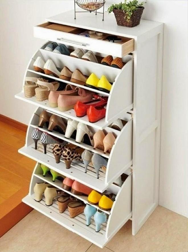 5 mẫu tủ giày nhỏ mà có võ cực tối ưu cho không gian nhà nhỏ - Ảnh 3.