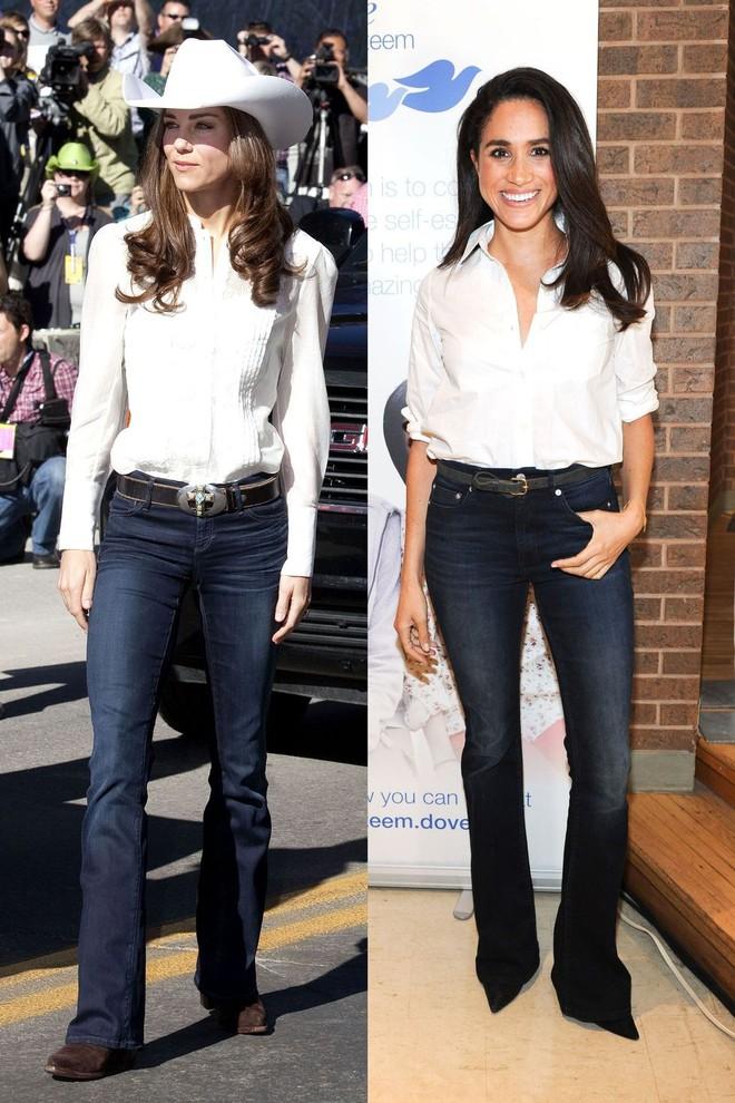 Có ai như chị em dâu nhà Hoàng gia Anh, Kate Middleton và Meghan Markle có tới 11 lần đụng váy - Ảnh 11.