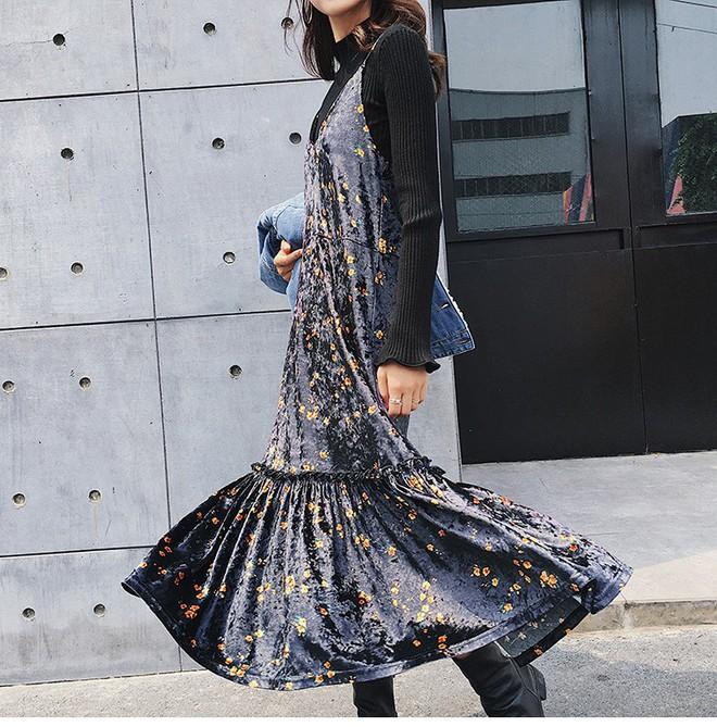 5 mẫu váy đang được các tín đồ thời trang châu Á diện nhiều nhất khi tiết trời se lạnh  - Ảnh 16.
