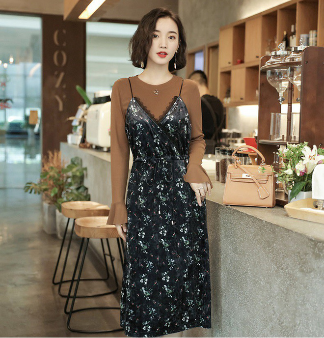 5 mẫu váy đang được các tín đồ thời trang châu Á diện nhiều nhất khi tiết trời se lạnh - Ảnh 17.