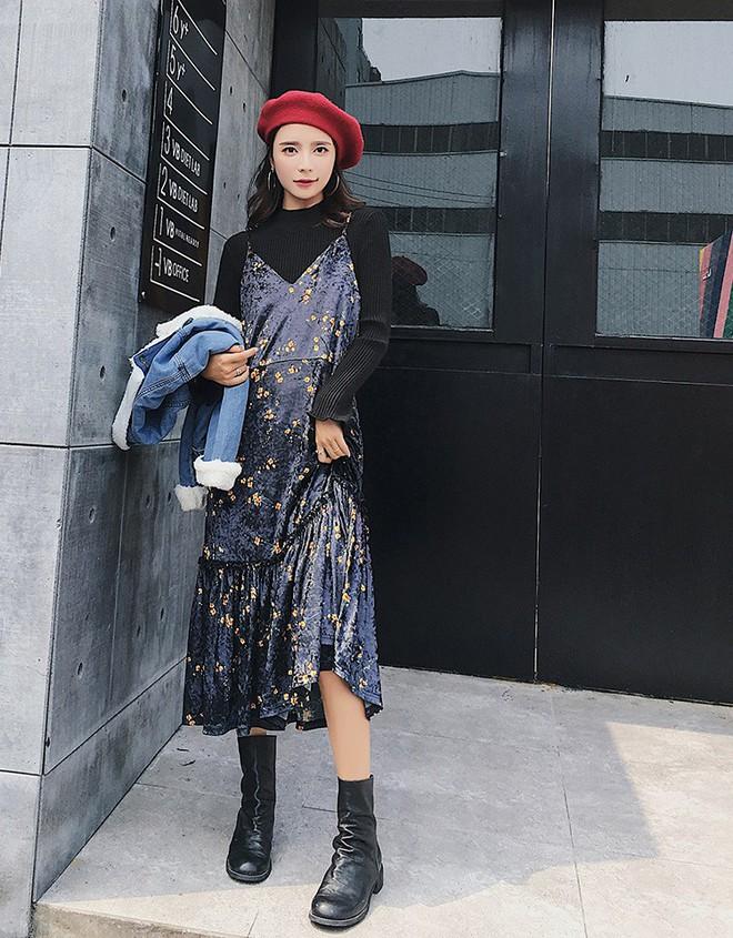 5 mẫu váy đang được các tín đồ thời trang châu Á diện nhiều nhất khi tiết trời se lạnh - Ảnh 18.