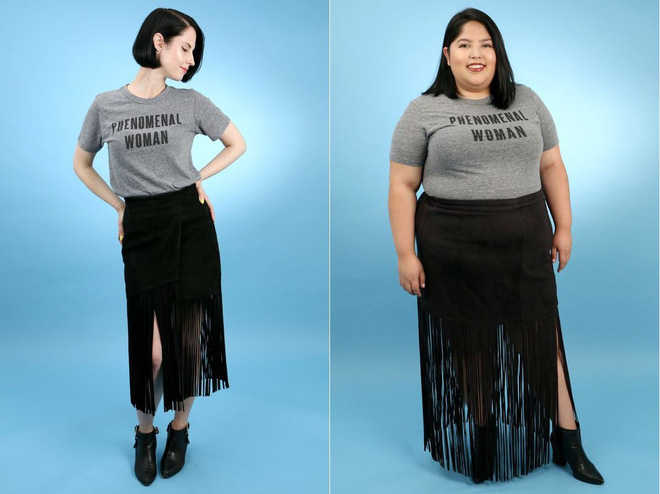 2 cô nàng béo và gầy này sẽ cùng mặc thử 1 mẫu trang phục để xem liệu ai sẽ mặc đẹp hơn - Ảnh 2.