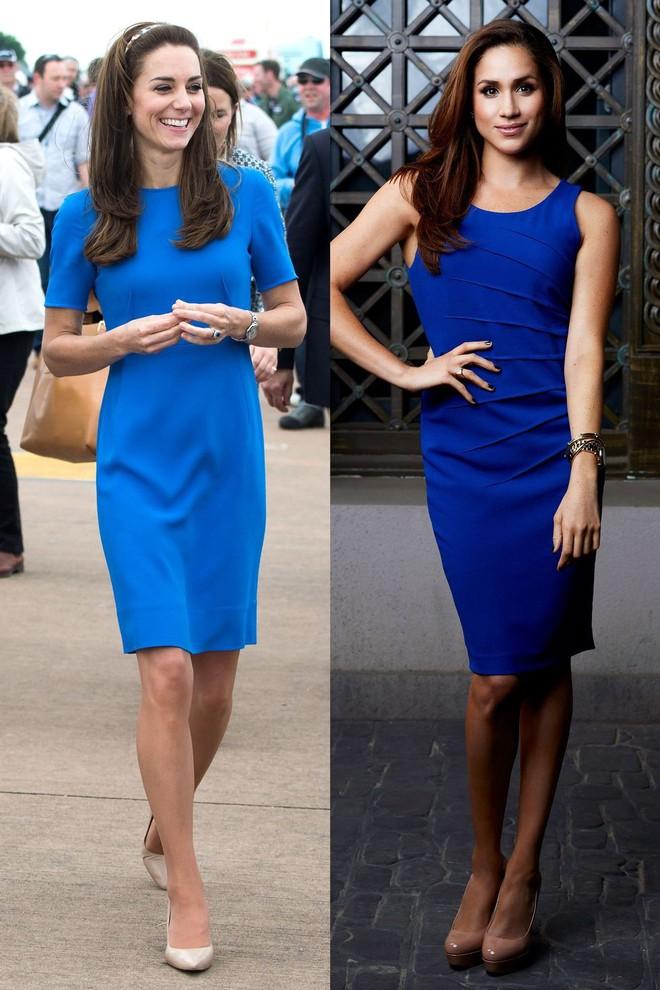 Có ai như chị em dâu nhà Hoàng gia Anh, Kate Middleton và Meghan Markle có tới 11 lần đụng váy - Ảnh 2.
