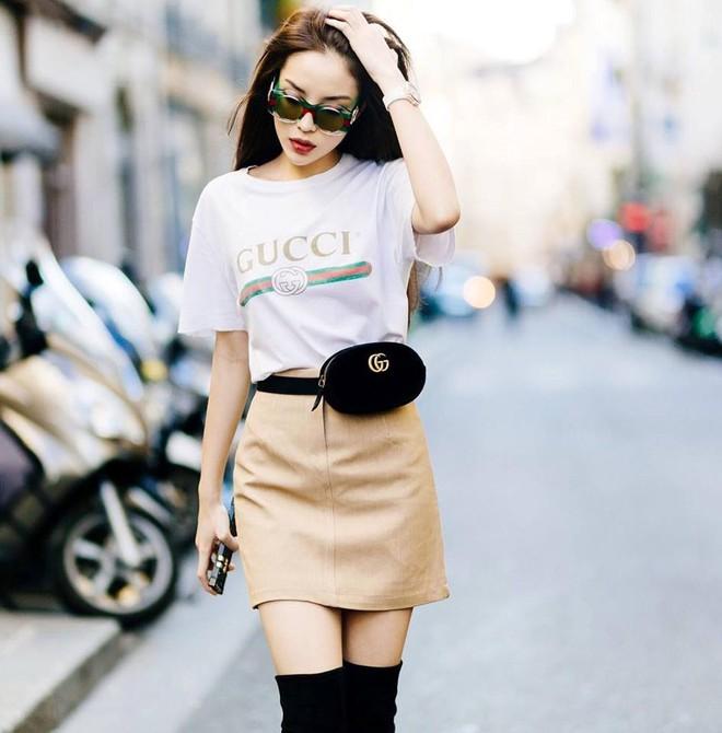Đơn giản hết mức, nhưng áo phông của Gucci vẫn được các sao Việt và các fashionista thi nhau mặc - Ảnh 2.