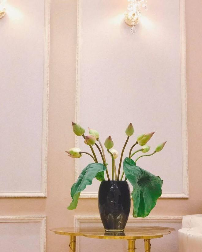Ngắm căn hộ góc nào cũng lãng mạn và ngọt ngào với hoa tươi của hoa hậu Phạm Hương - Ảnh 6.