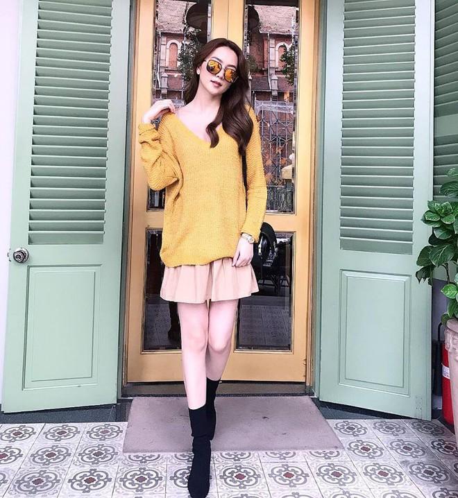 Đông này muốn diện áo len thật thời thượng, hãy học tập từ street style của các người đẹp Vbiz - Ảnh 16.