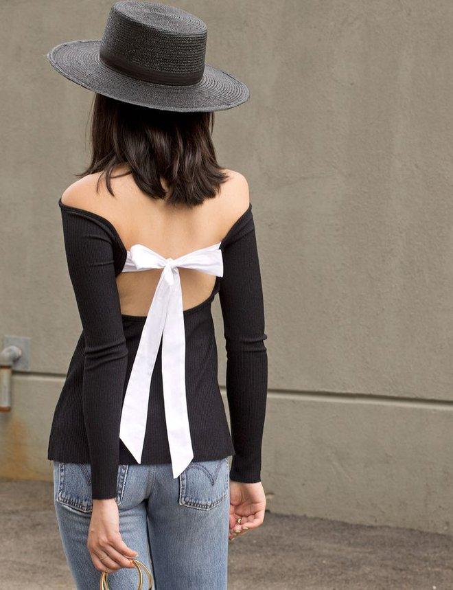Nơ nhỏ xinh thắt dọc lưng áo đang là mốt khiến phái đẹp phải xiêu lòng - Ảnh 18.