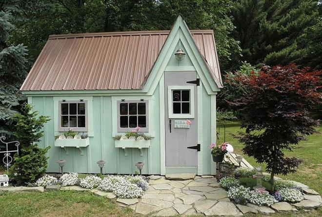 Những ngôi nhà nhỏ trong vườn khiến bạn như được lạc vào thế giới cổ tích - Ảnh 9.