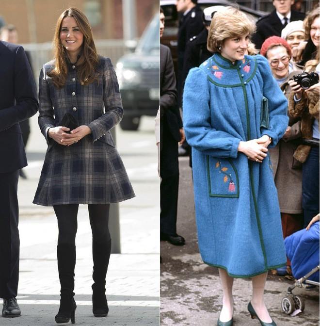 Cùng mang thai, nhưng công nương Kate và công nương Diana lại có cánh che bụng bầu hoàn toàn khác nhau - Ảnh 3.
