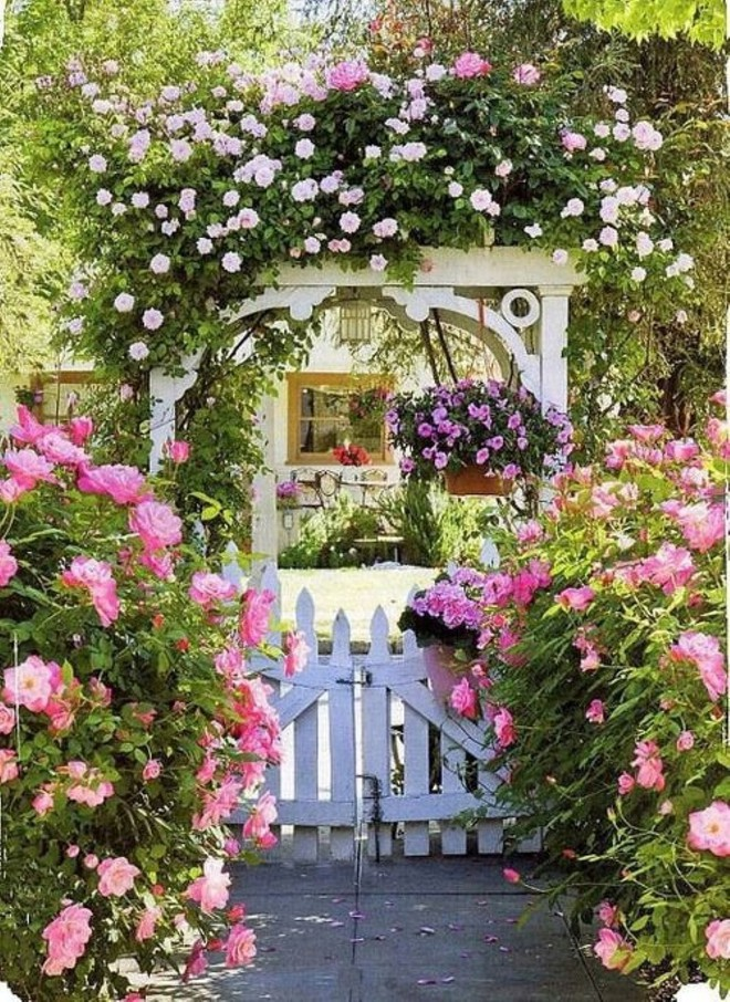 Chiêm ngưỡng vẻ đẹp lộng lẫy của những chiếc cổng nhà tràn ngập hoa - Ảnh 9.