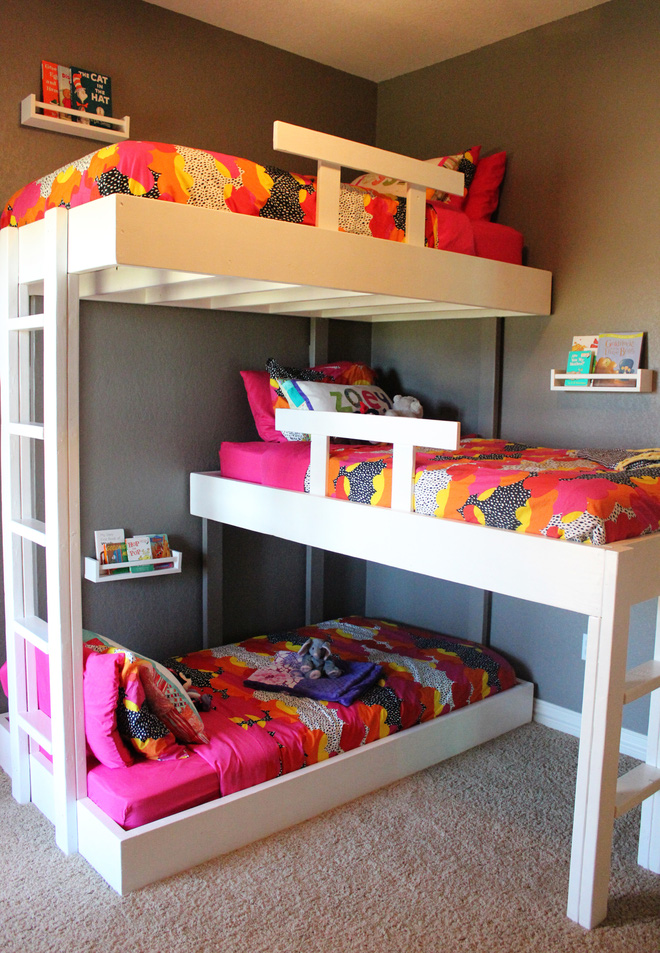 11 mẫu giường tầng đẹp, gọn cực đáng tham khảo cho những gia đình nhà chật mà đông con - Ảnh 9.