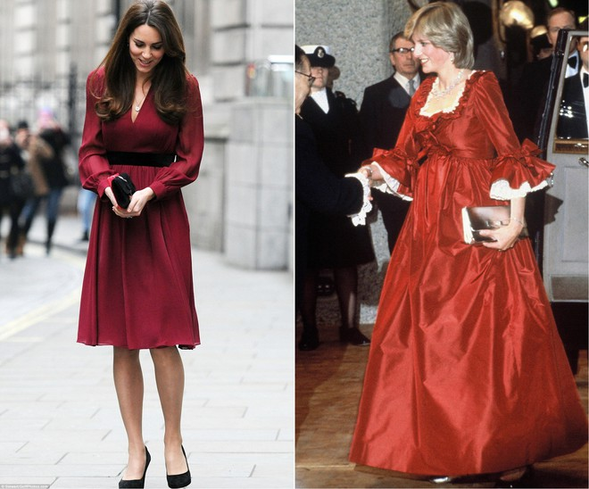 Cùng mang thai, nhưng công nương Kate và công nương Diana lại có cánh che bụng bầu hoàn toàn khác nhau - Ảnh 4.