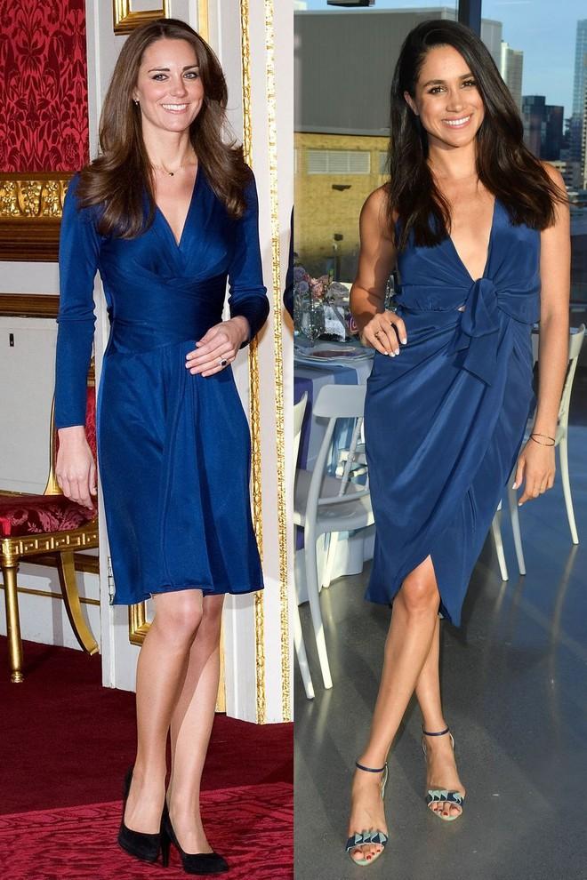 Có ai như chị em dâu nhà Hoàng gia Anh, Kate Middleton và Meghan Markle có tới 11 lần đụng váy - Ảnh 4.