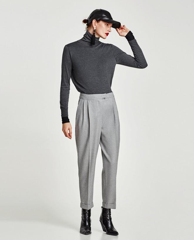 Gợi ý 15 mẫu quần dài từ Zara, Mango, H&M cứ mặc cùng boots là đẹp - Ảnh 7.
