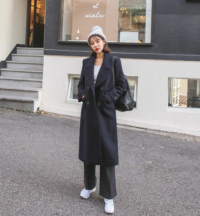 Áo khoác dài + quần ống rộng: Combo mặc kiểu gì cũng đẹp cho mùa đông năm nay - Ảnh 5.